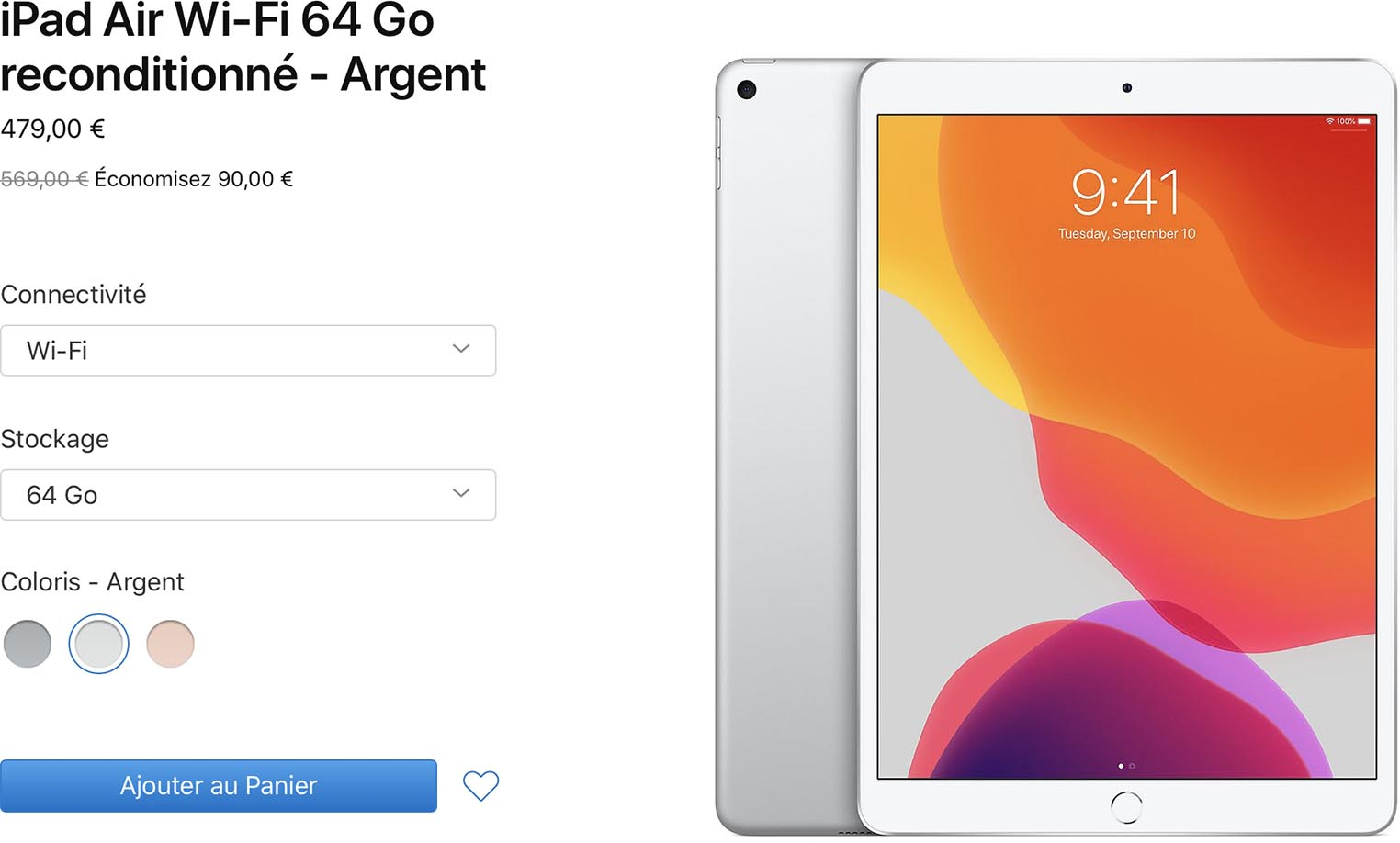 iPad Air Refurb Store