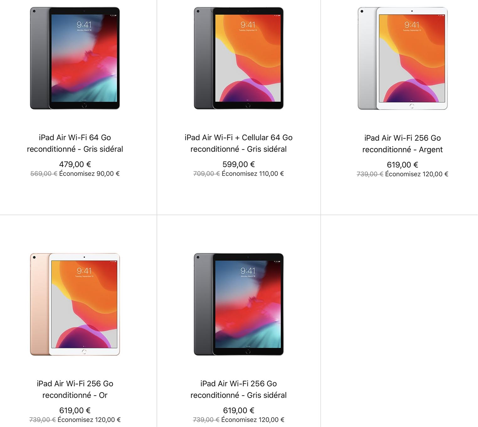 iPad Air 3 Refurb Store