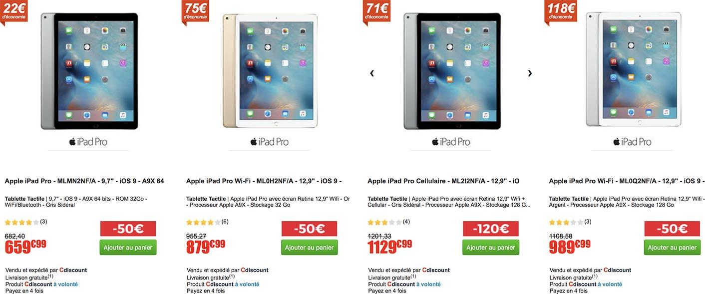 iPad promo CDiscount
