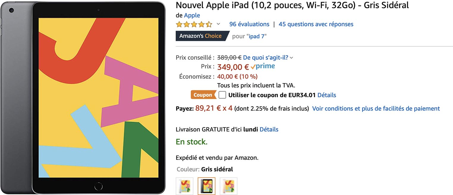 iPad 10,2 coupons Amazon