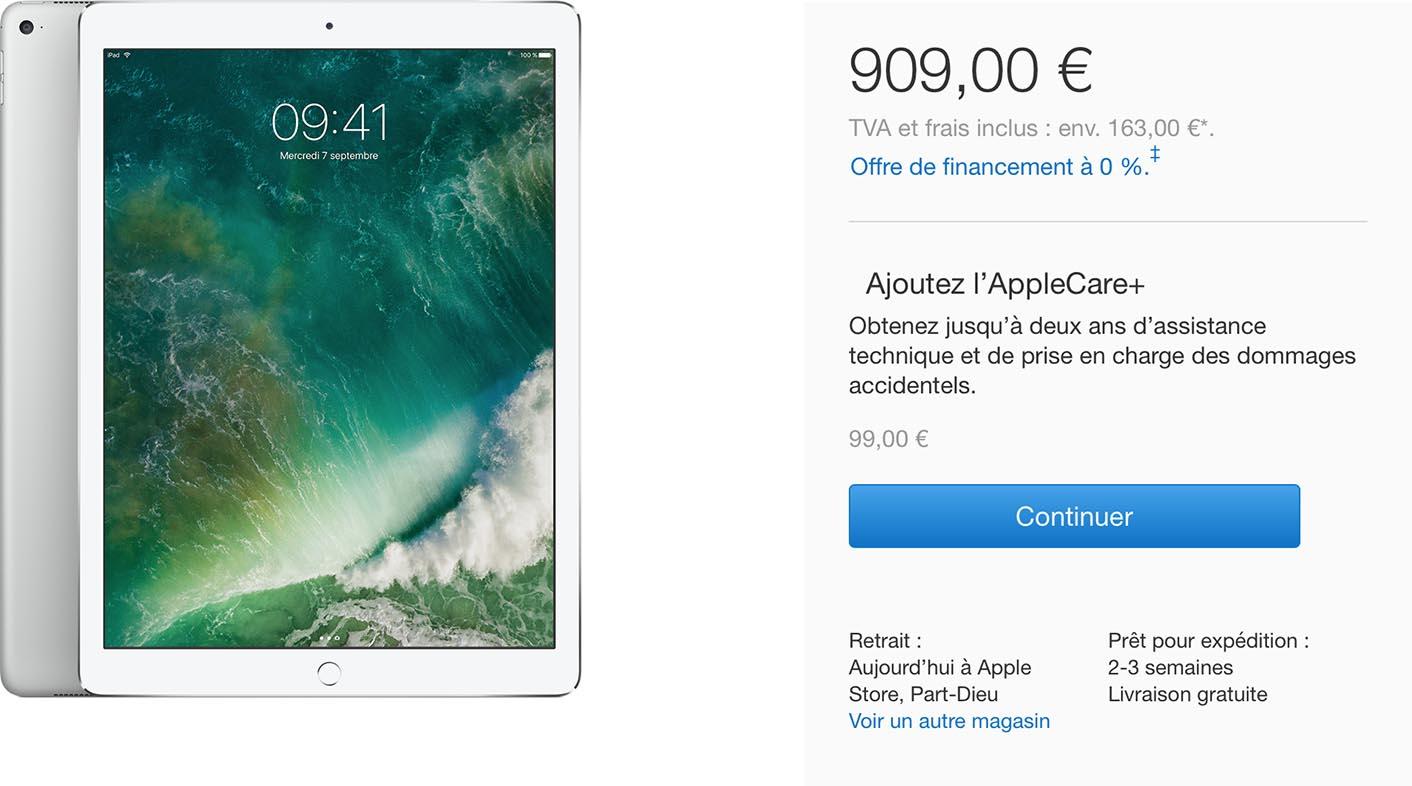 iPad délais Apple Store