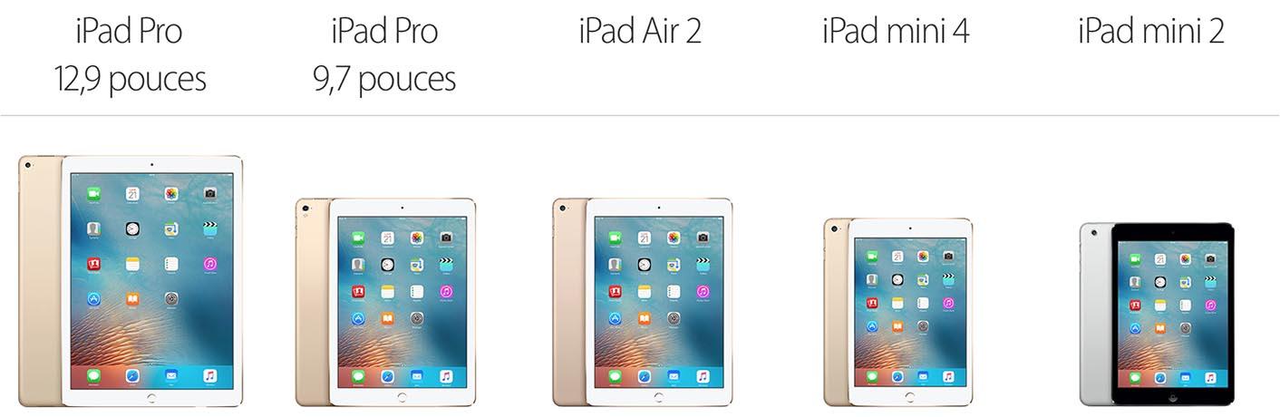 iPad gamme 2016