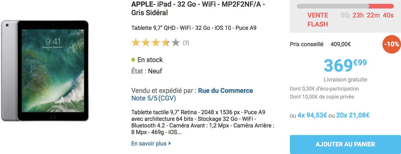 iPad 2017 Rue du Commerce