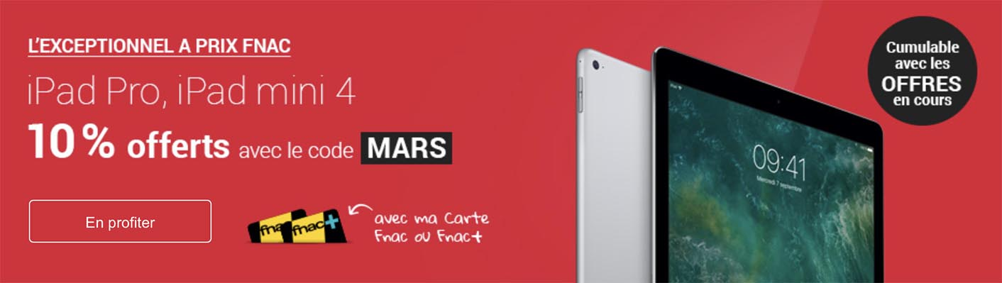iPad Pro promo Fnac