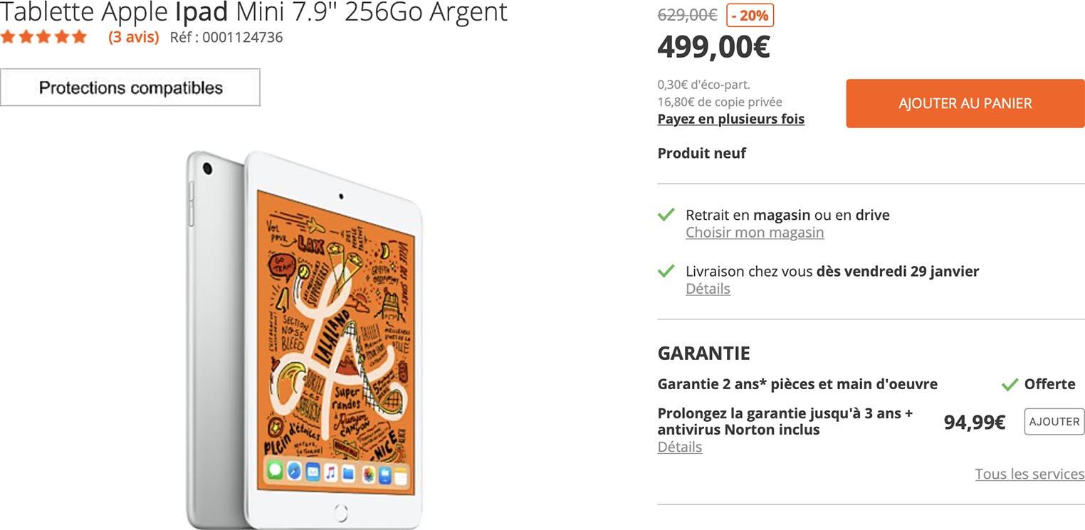 iPad mini promo Boulanger