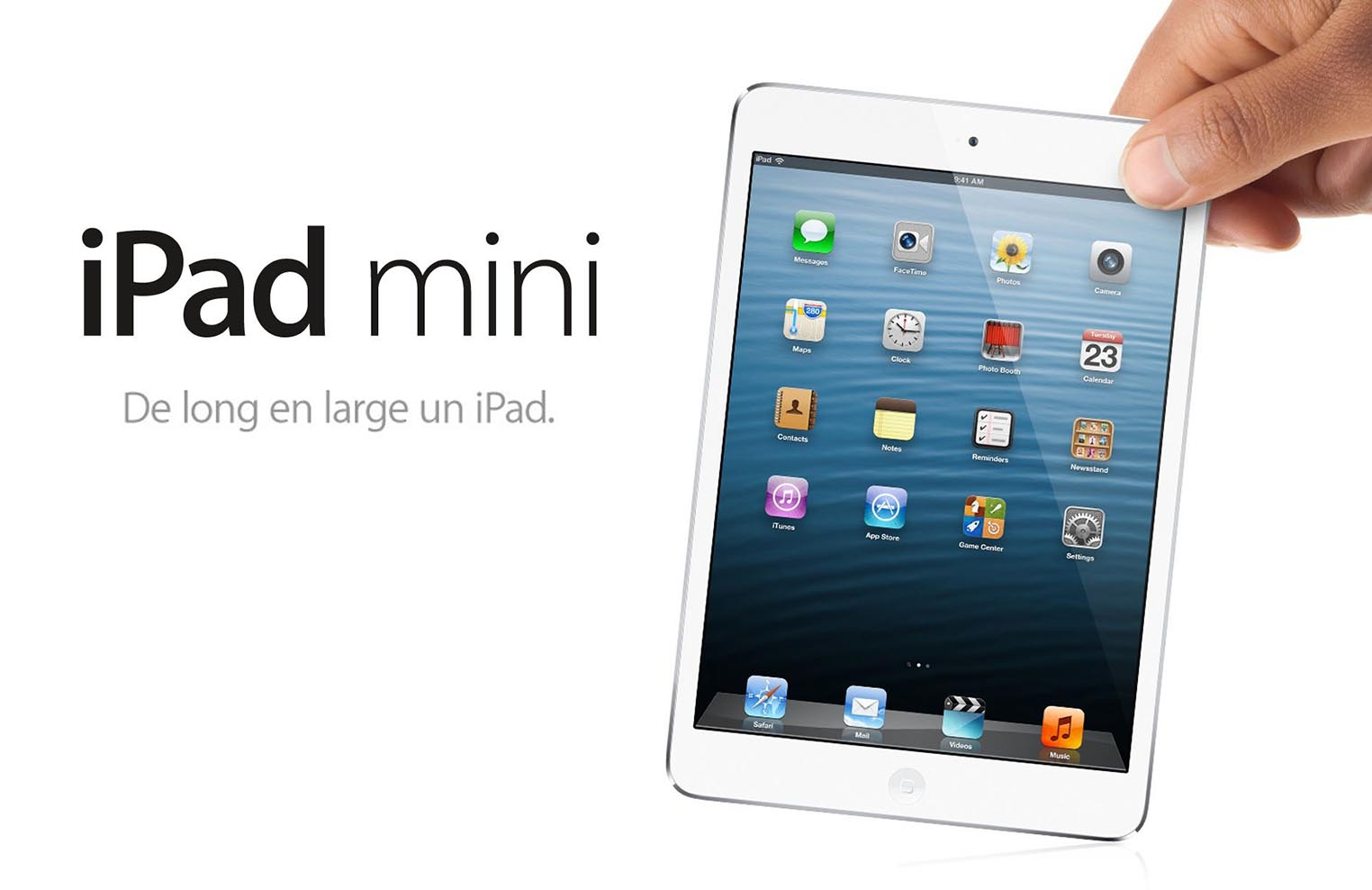 iPad mini de long en large un iPad