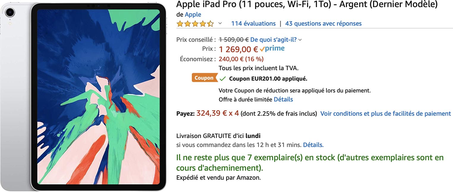 iPad Pro promo Amazon