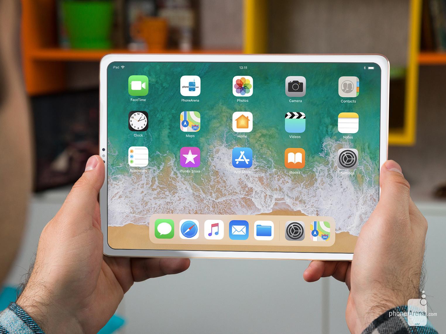 iPad Pro 2018 rendu 3D encoche