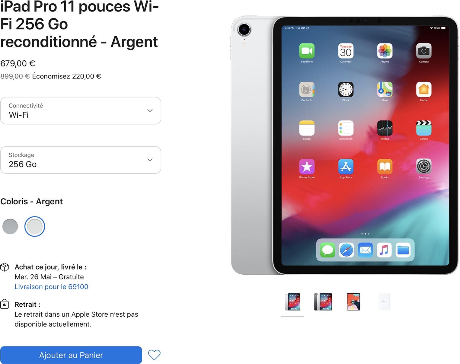 iPad Pro 2018 Refurb Store