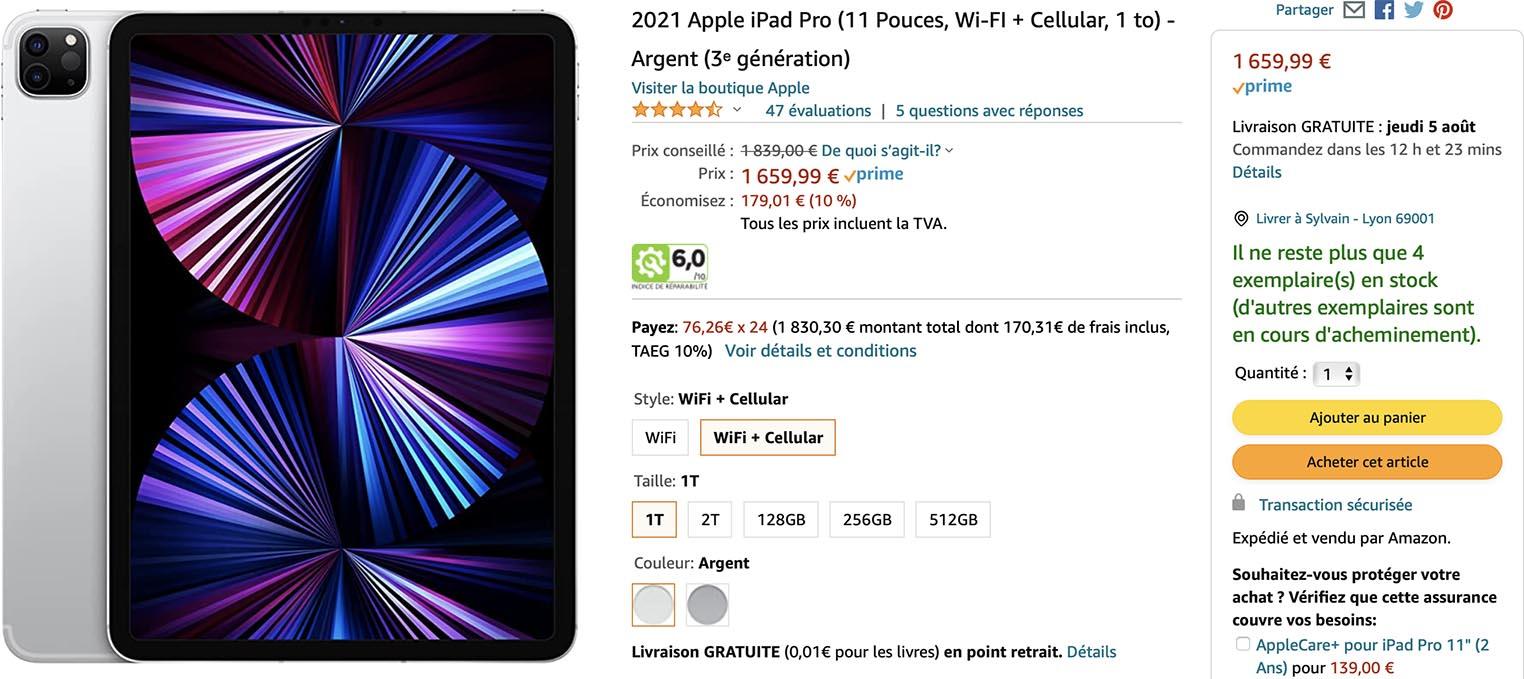iPad Pro 5 promo Amazon