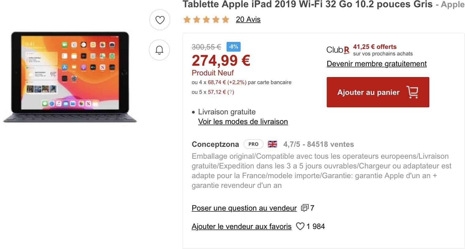 iPad promo Rakuten