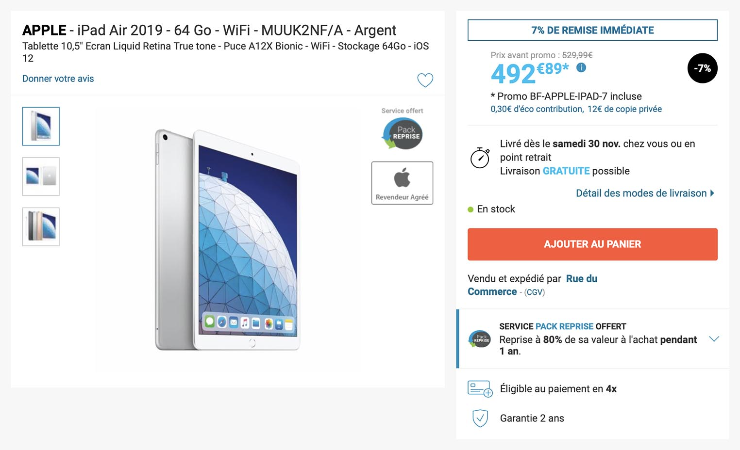iPad Air Rue du Commerce