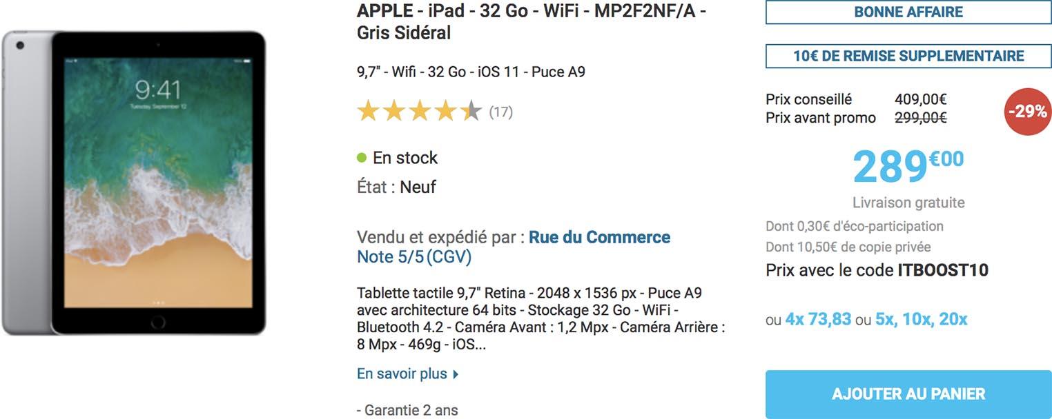 Promo iPad Rue du Commerce