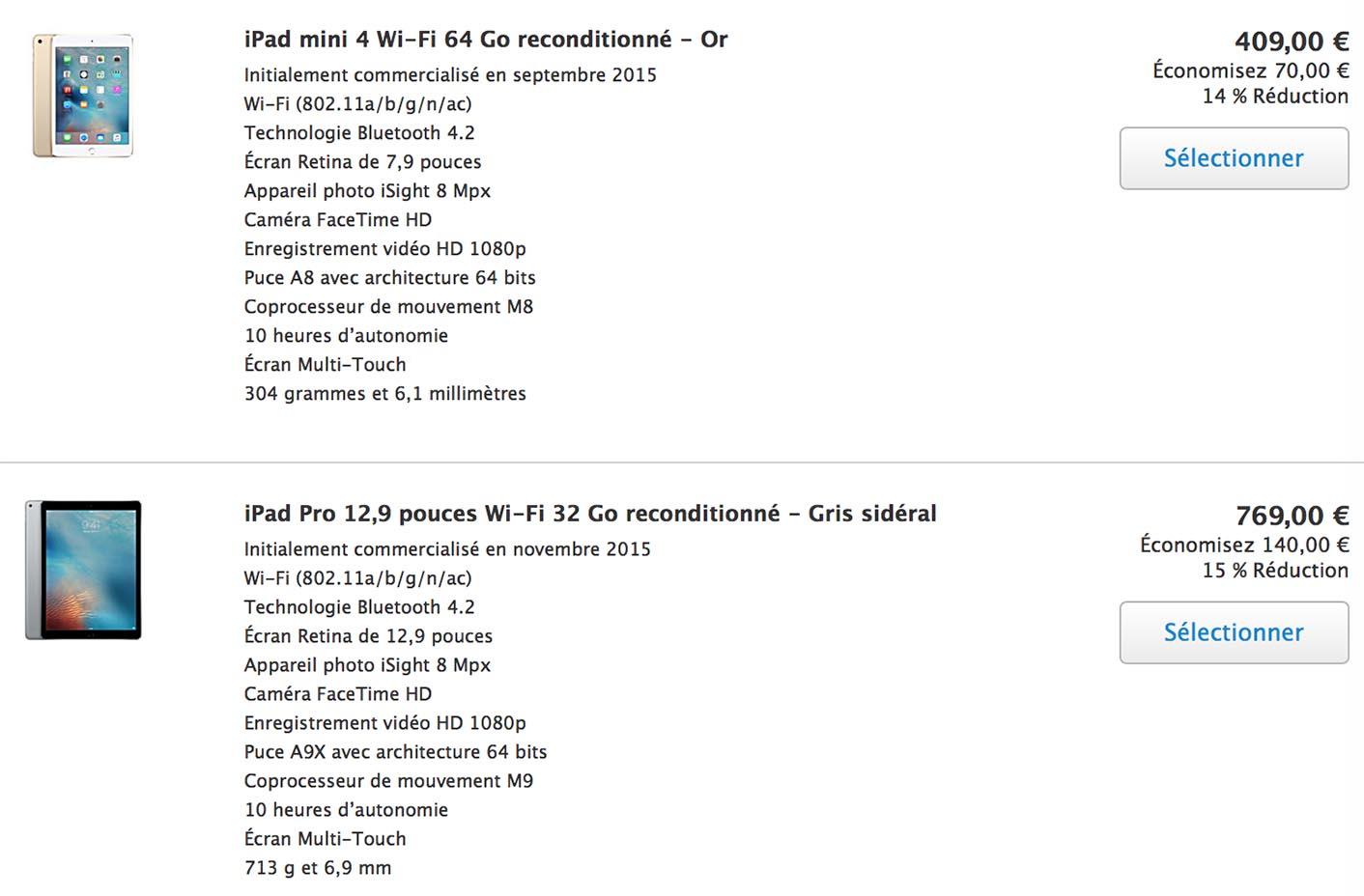 iPad Refurb