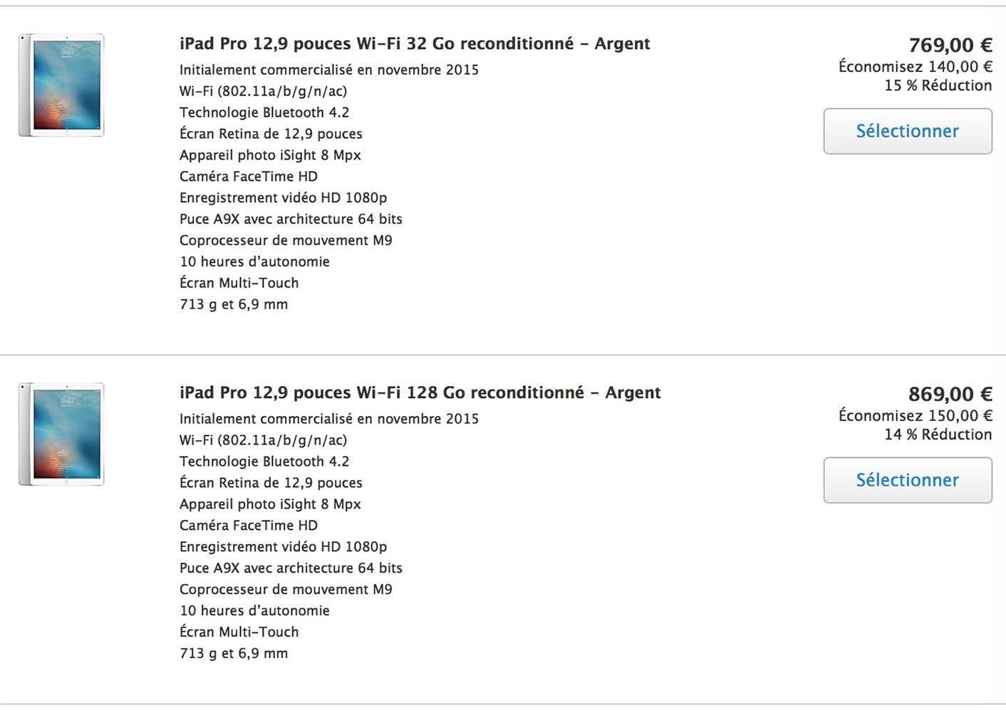 iPad Refurb Store