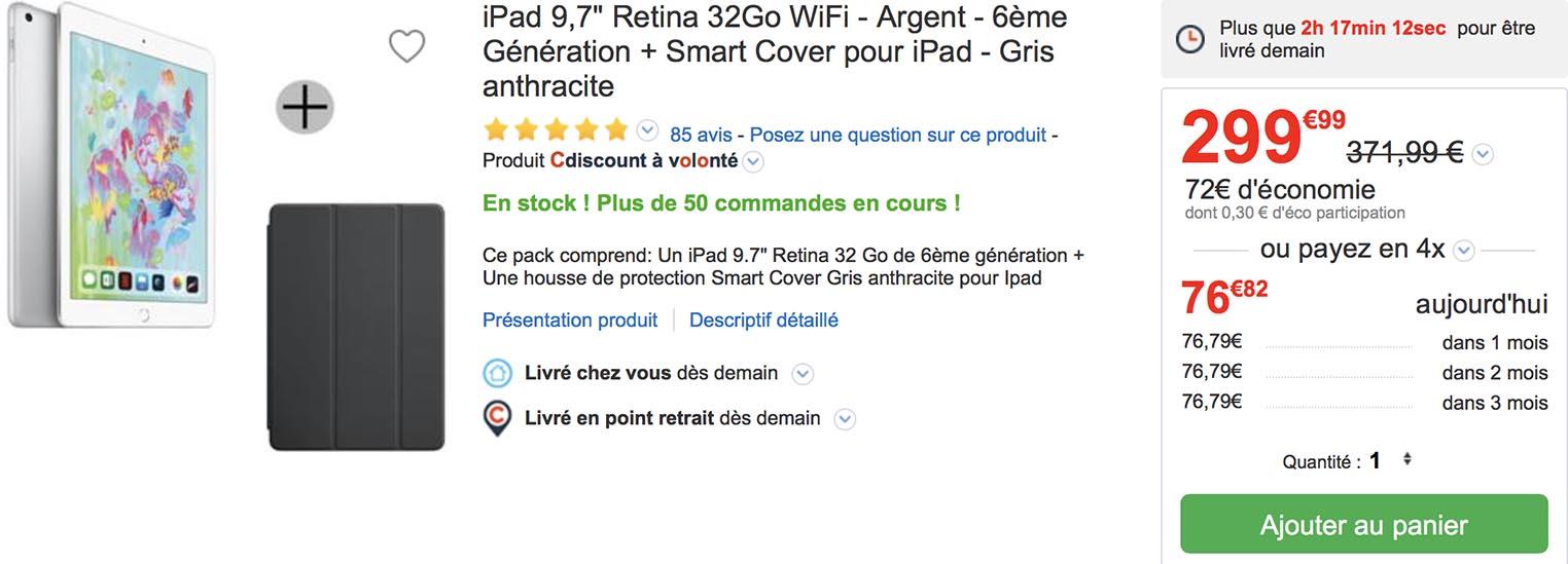 iPad Smart Cover CDiscount