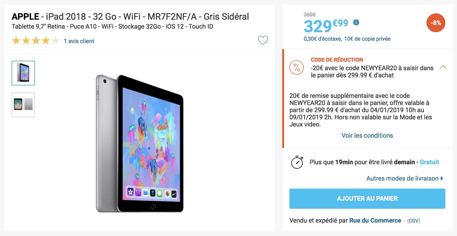 iPad promo Rue du Commerce