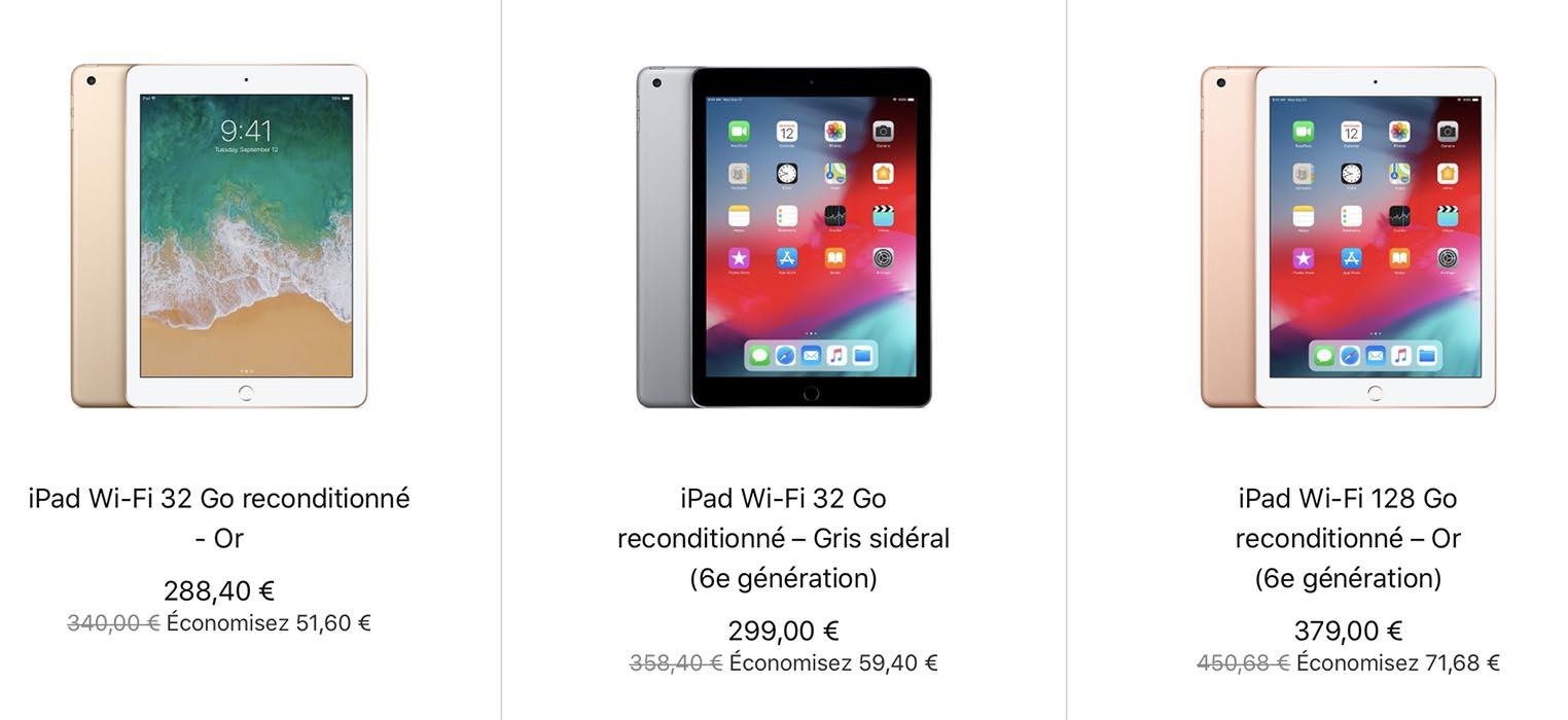 iPad 2018 Refurb Store France