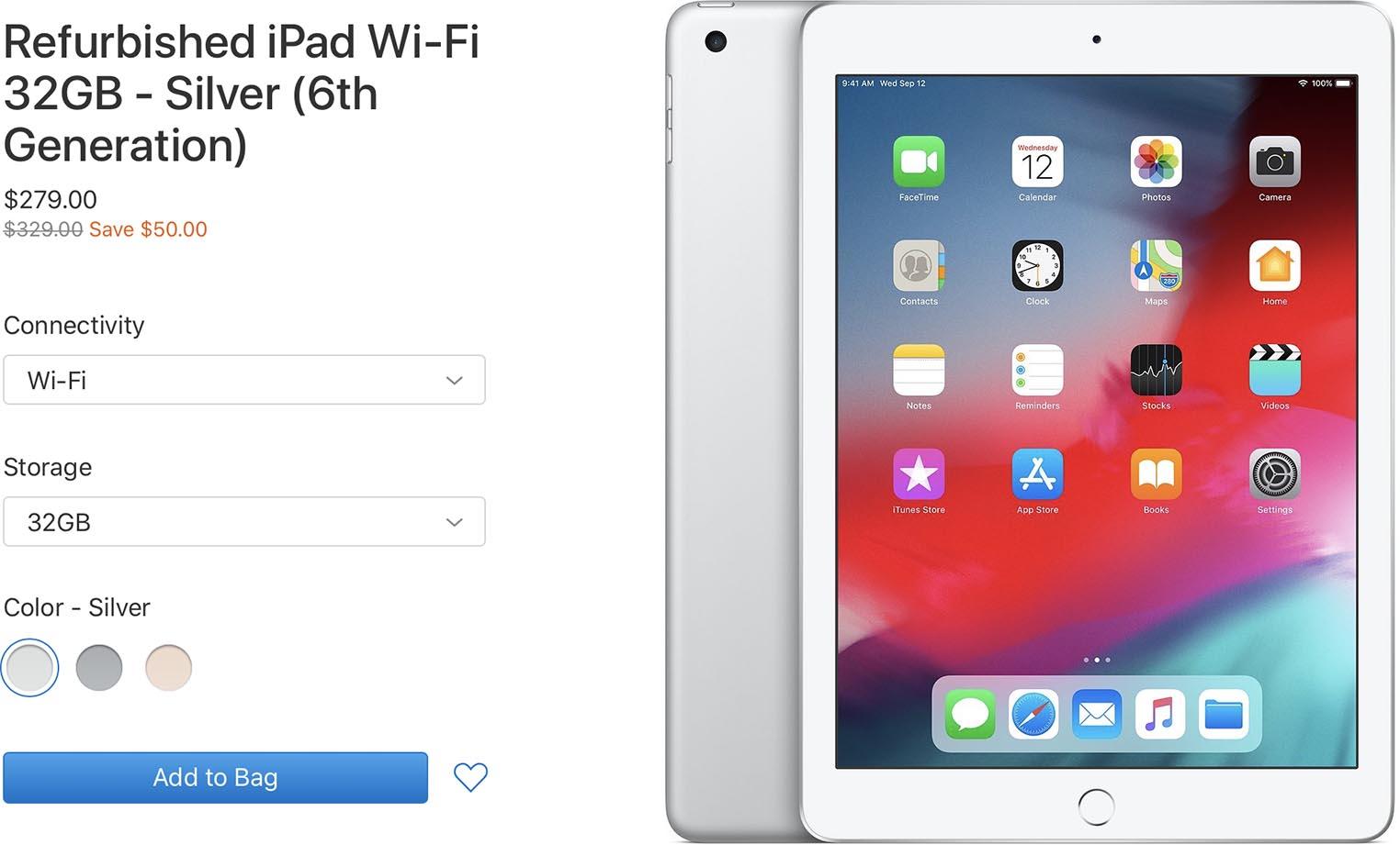 iPad 2018 Refurb Store
