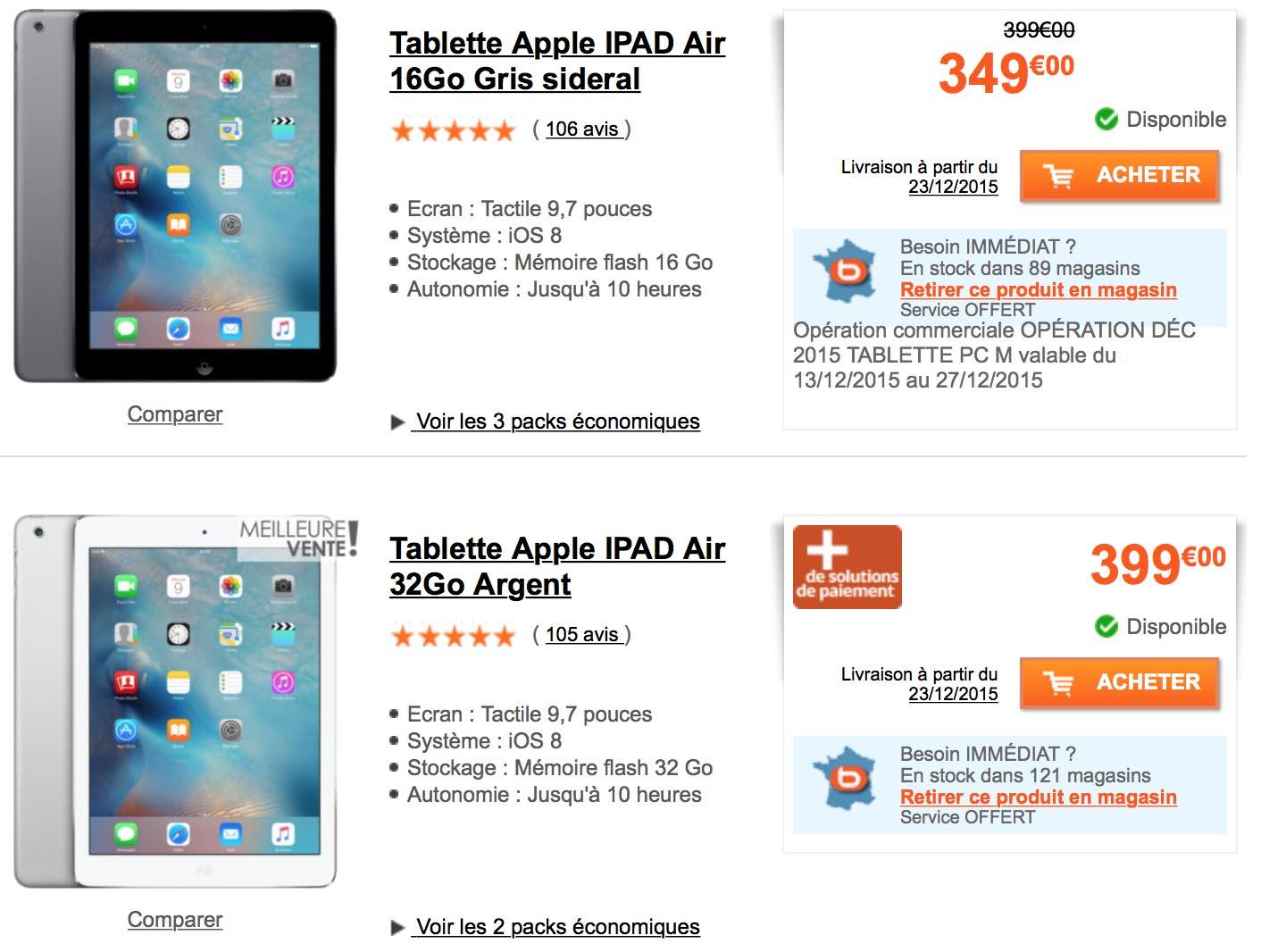 iPad Air Boulanger