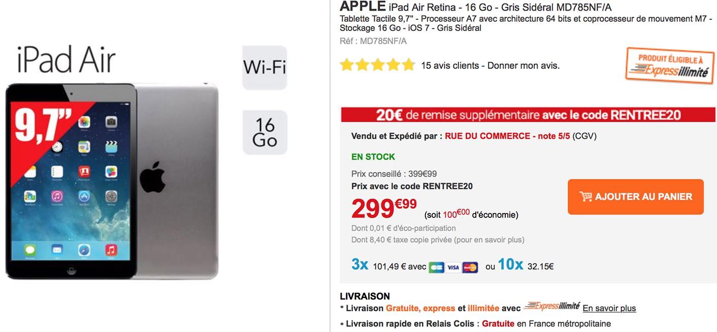 iPad Air Rue du Commerce