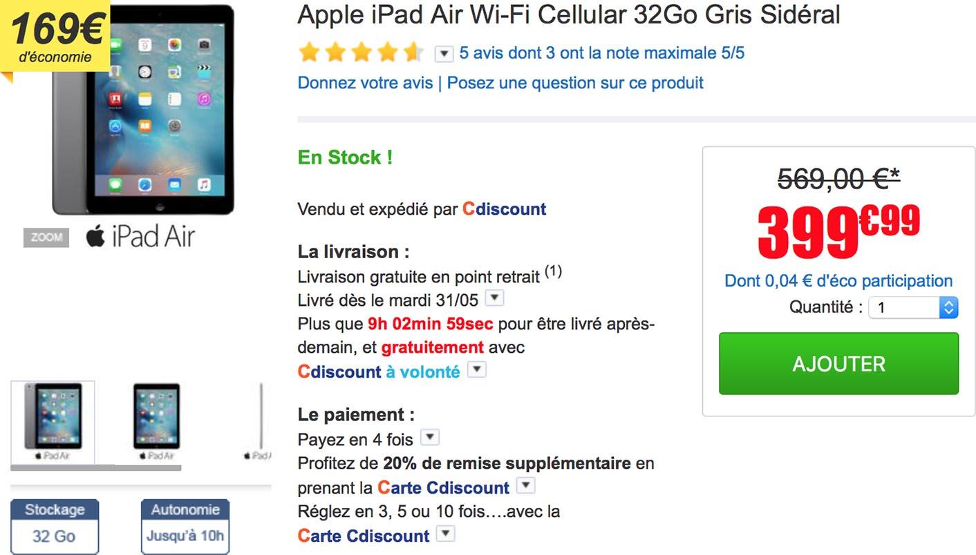 iPad Air CDiscount