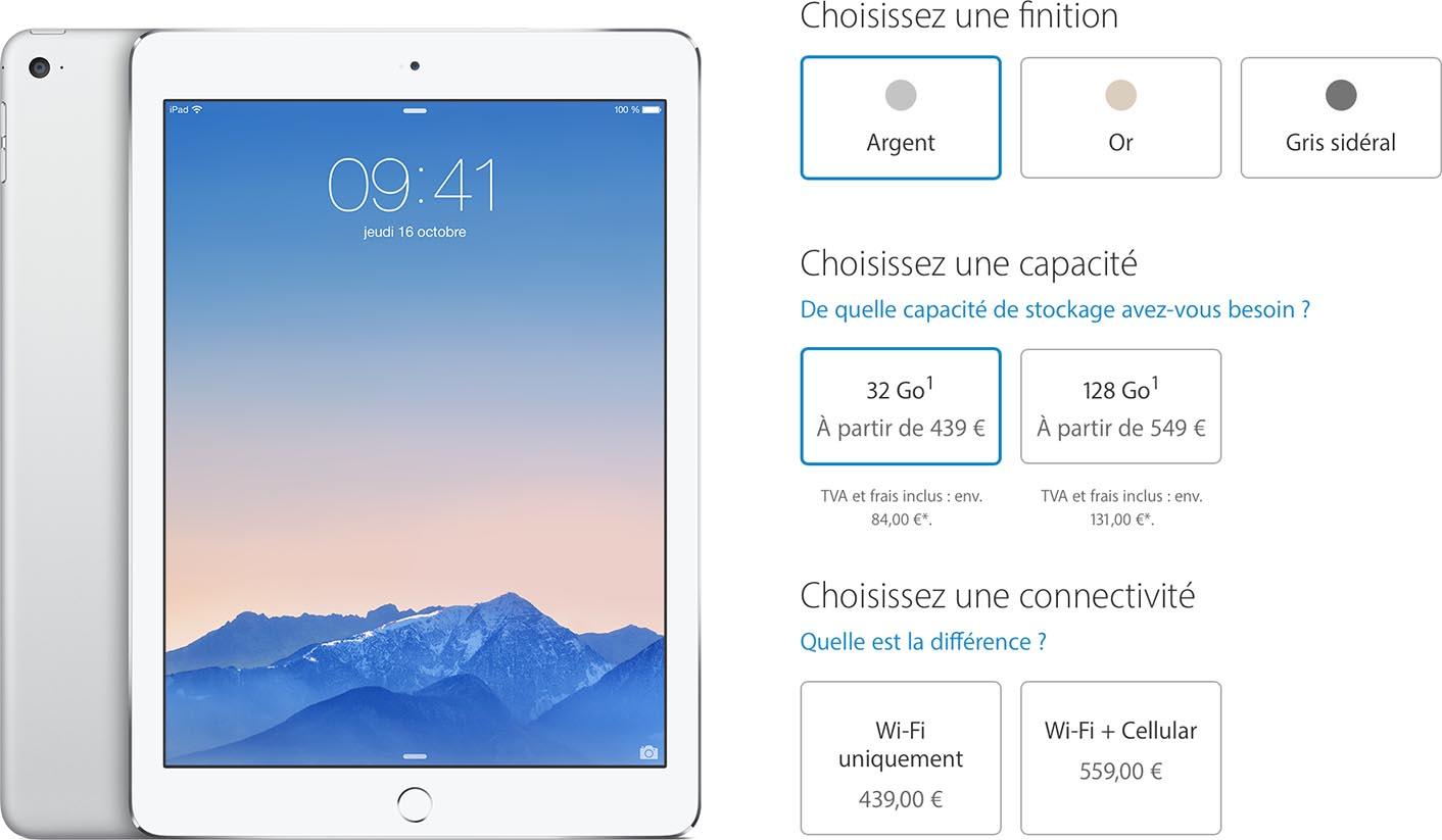 iPad Air 2 baisse de prix