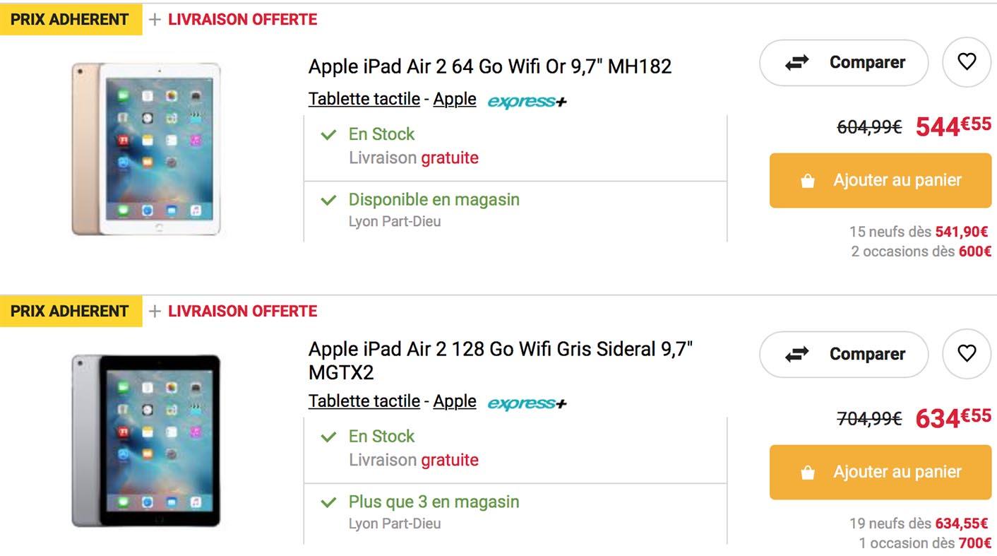 iPad Air 2 Promo Fnac