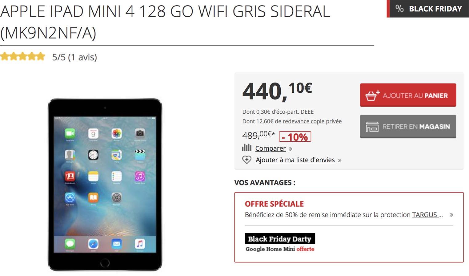 iPad mini Darty