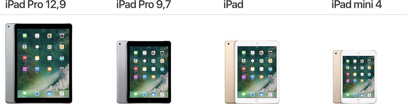 iPad gamme 2017