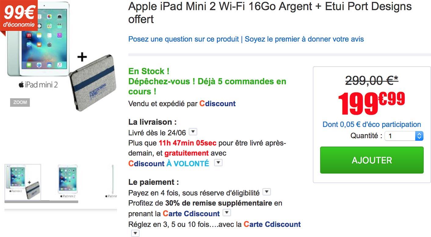 iPad mini 2 Cdiscount