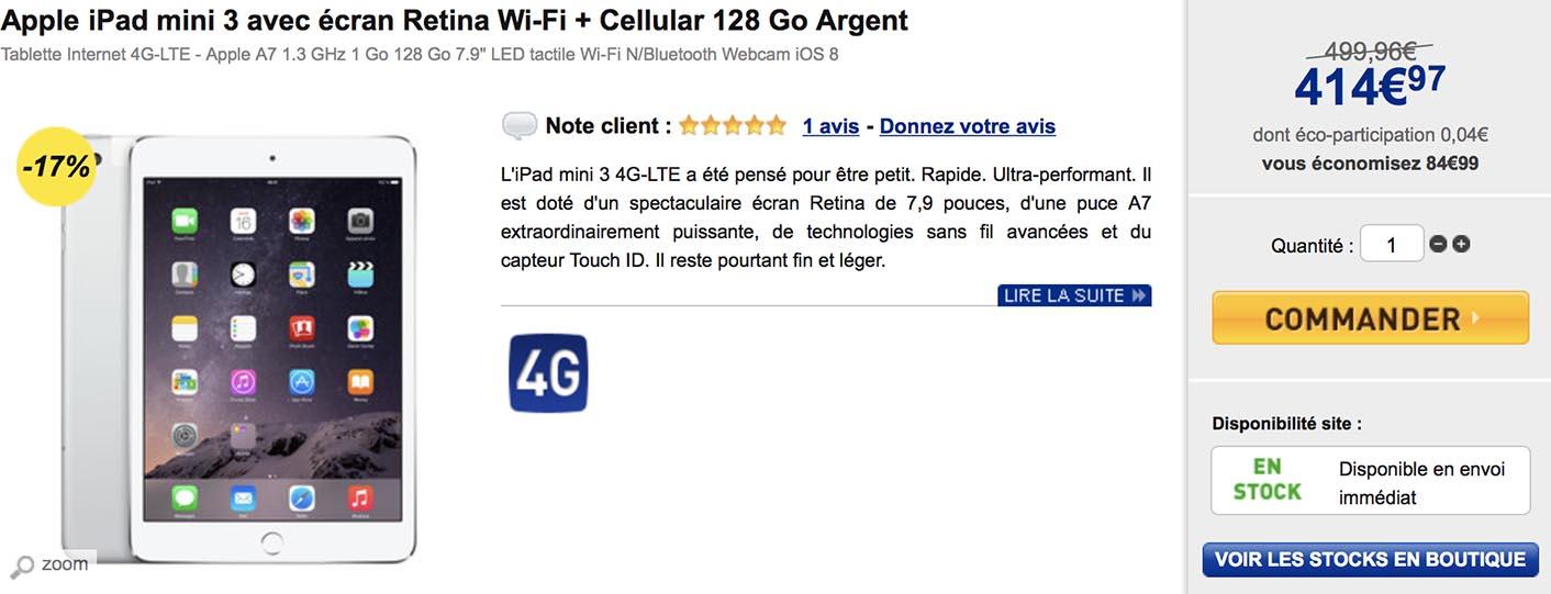 iPad mini 3 LDLC