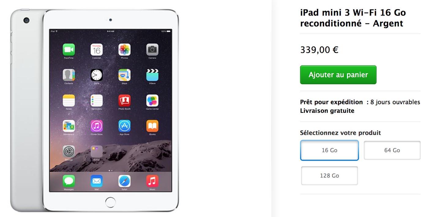 iPad mini 3 Refurb