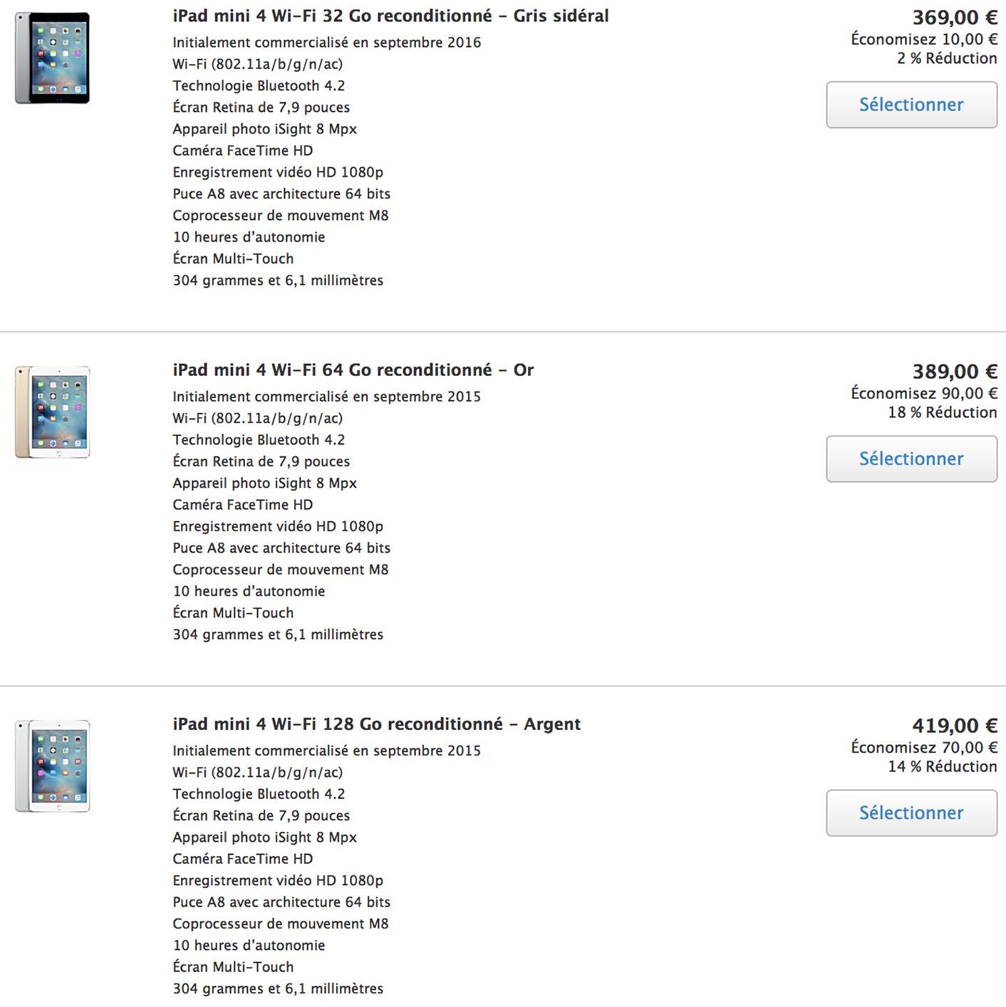 iPad mini 4 Refurb Store