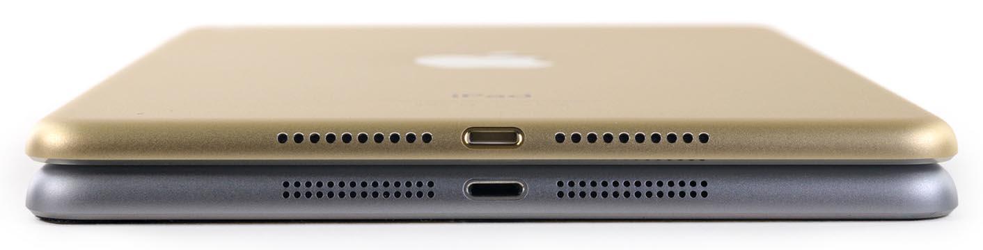 iPad mini 4 épaisseur comparaison