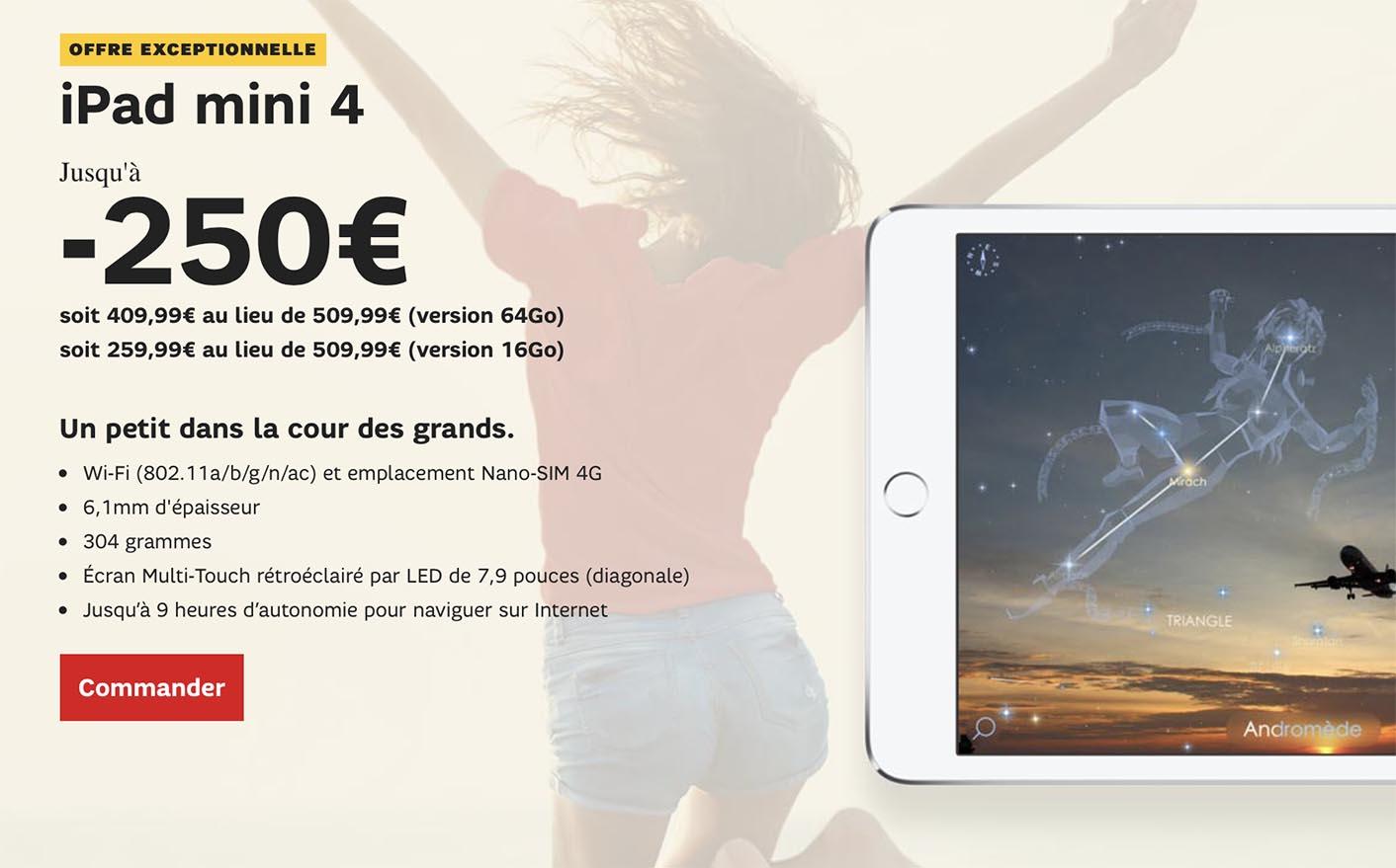 iPad mini 4 SFR