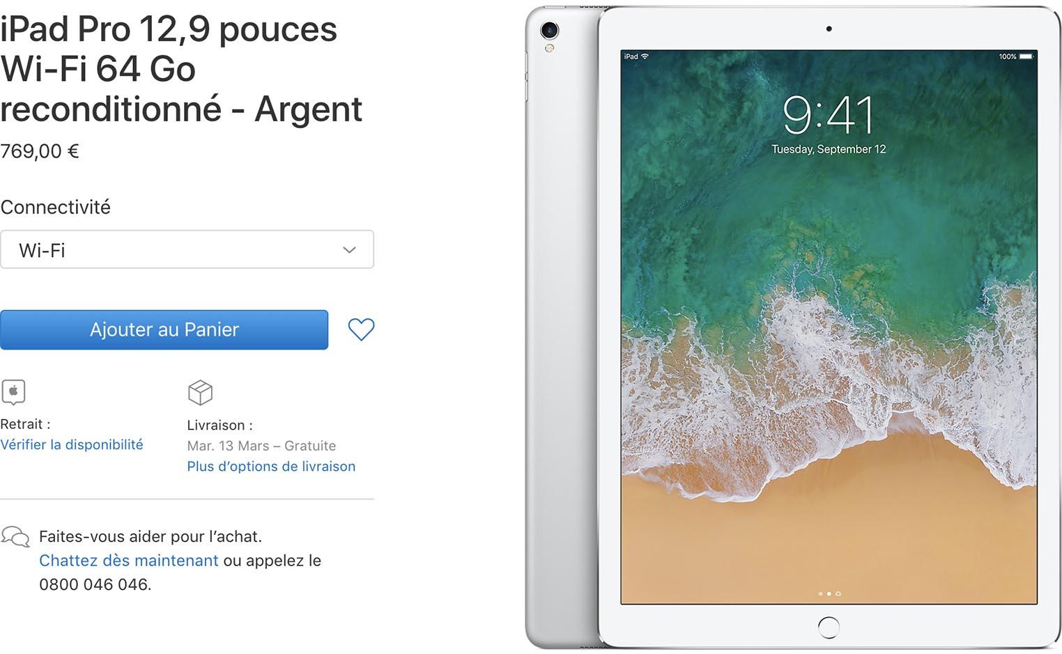 iPad Pro Refurb Store