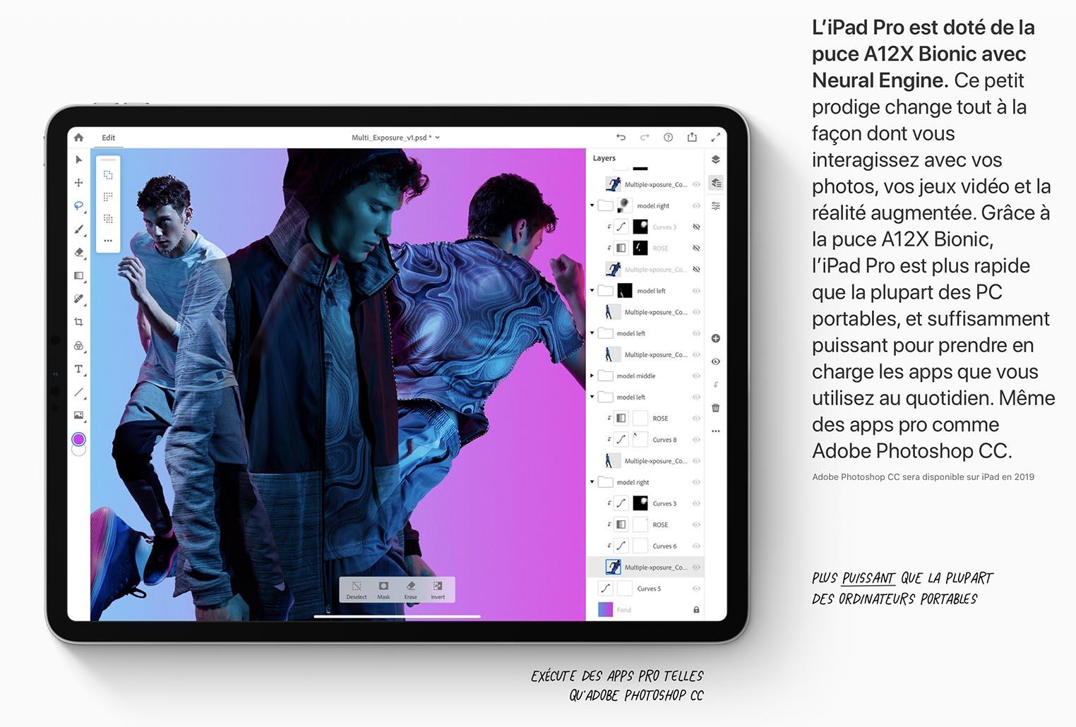 iPad Pro 2018 puissance