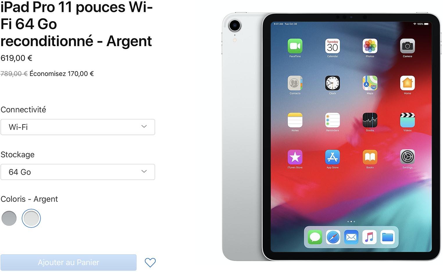 iPad Pro 2018 Refurb