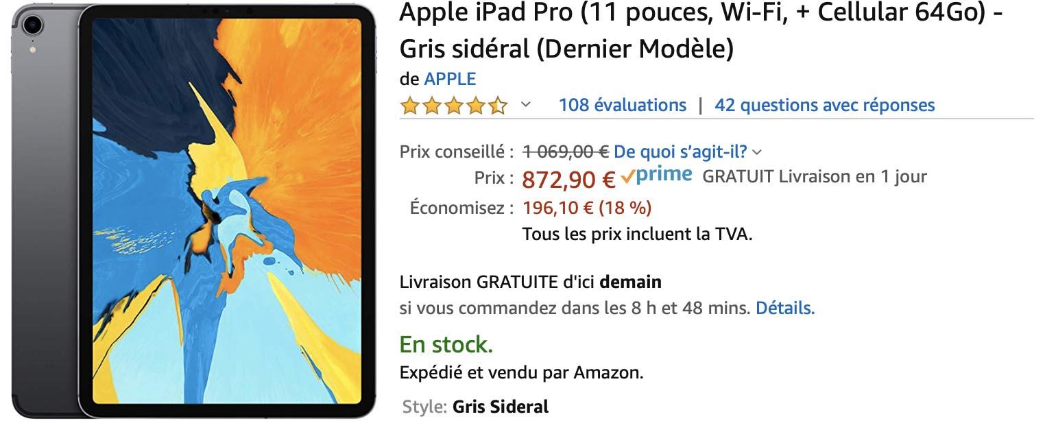 iPad Pro Cellulaire Amazon