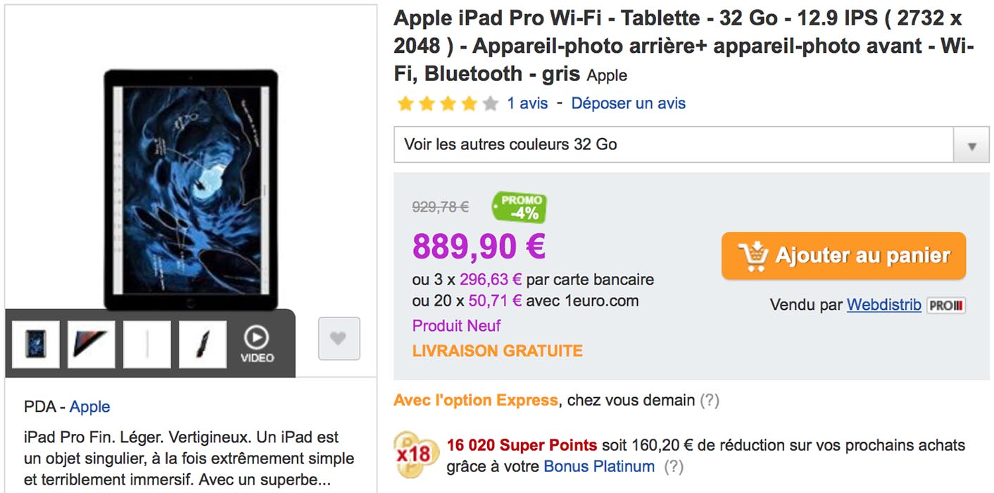 iPad Pro PriceMinister