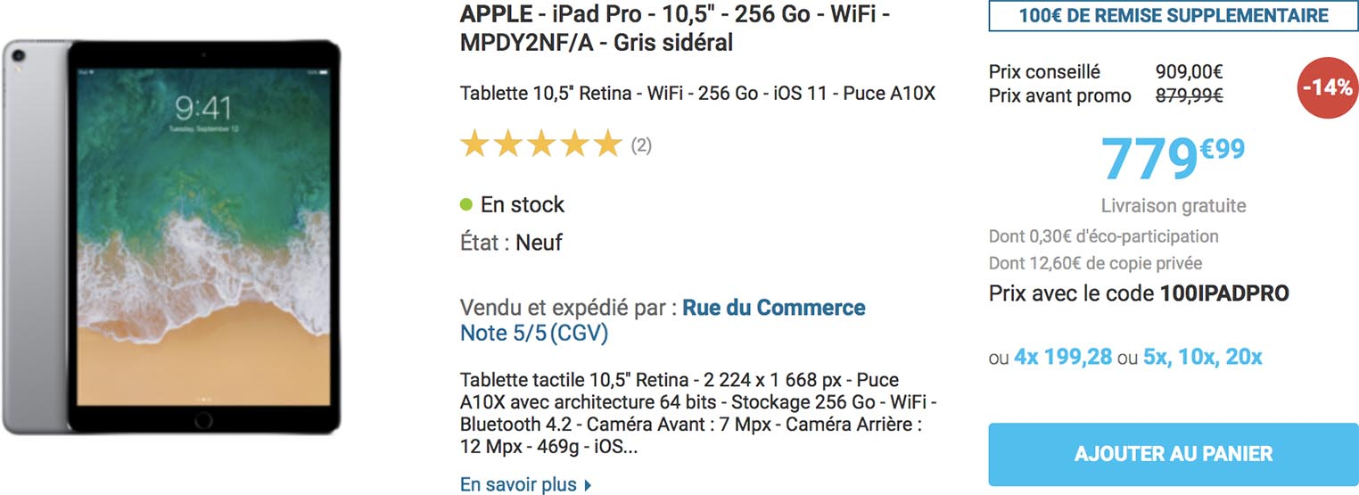 iPad Pro Rue du Commerce