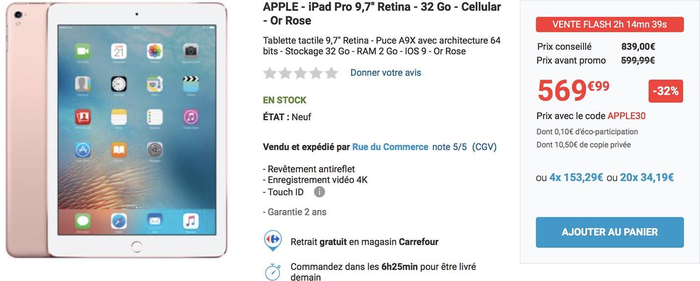 iPad Pro rose promo