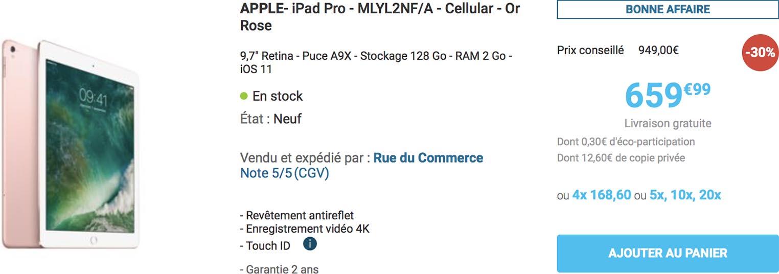 iPad Pro 9,7 Rue du Commerce