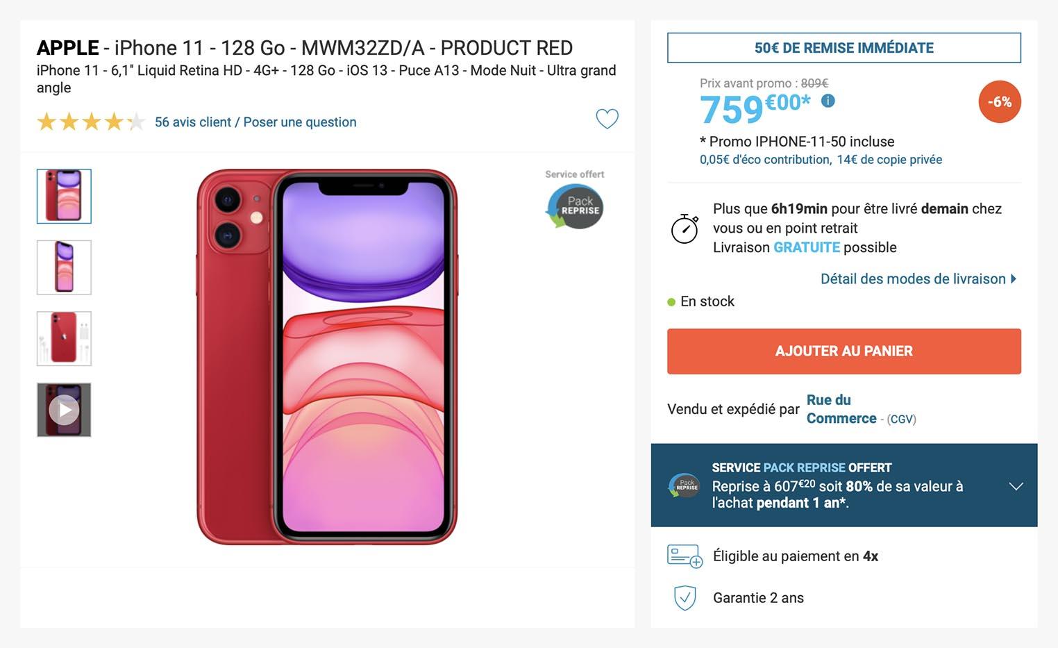 iPhone 11 Rue du Commerce
