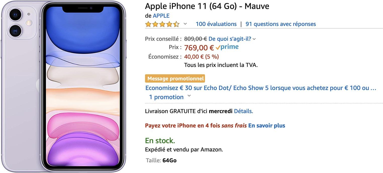 iPhone 11 mauve Amazon