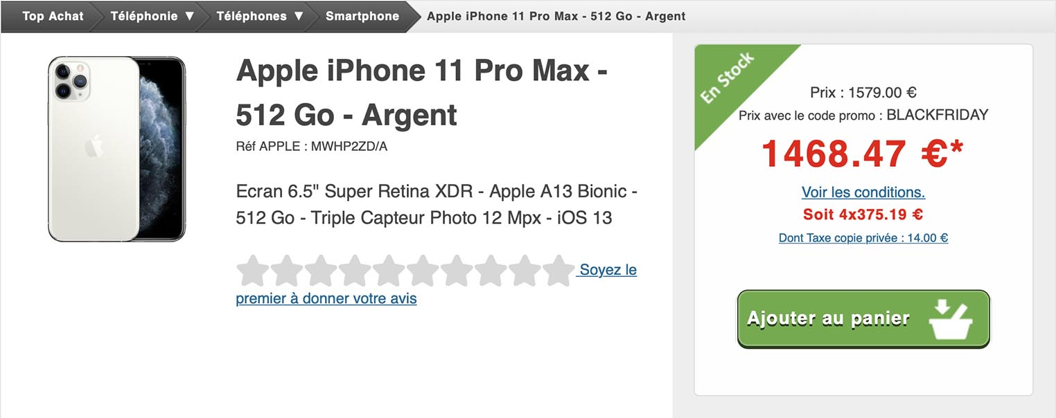 iPhone 11 Pro Max Top Achat