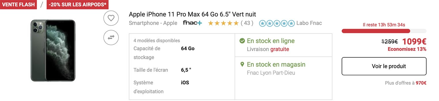 iPhone 11 Pro Max Fnac