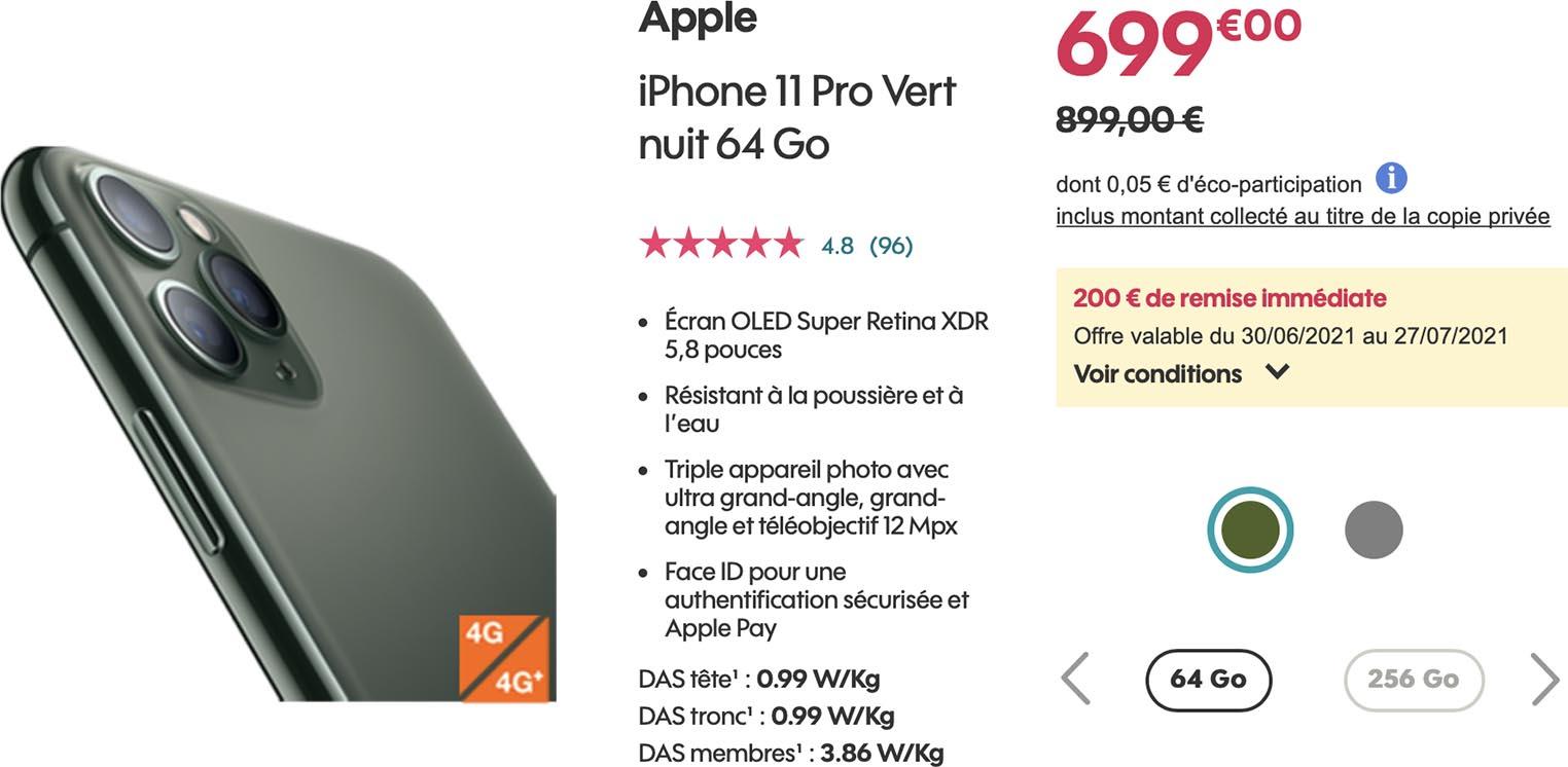 iPhone 11 Pro Soldes Sosh