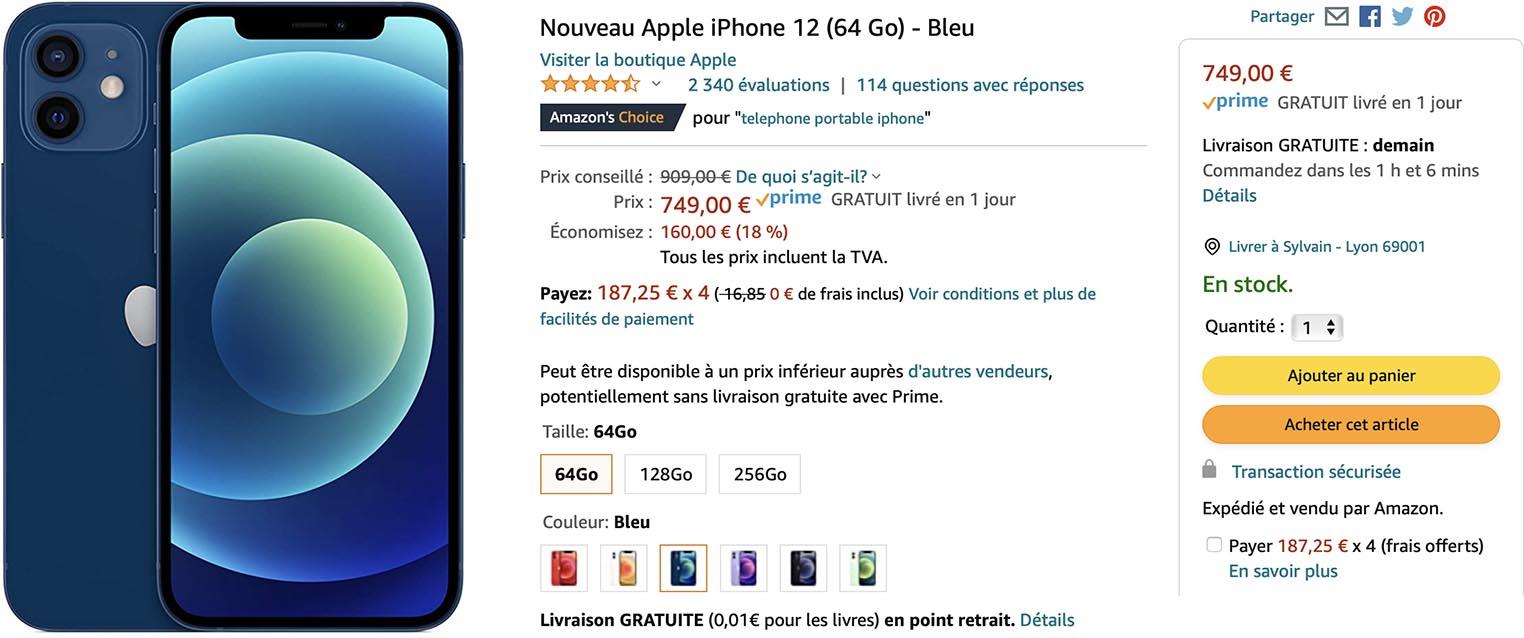iPhone 12 Soldes Amazon